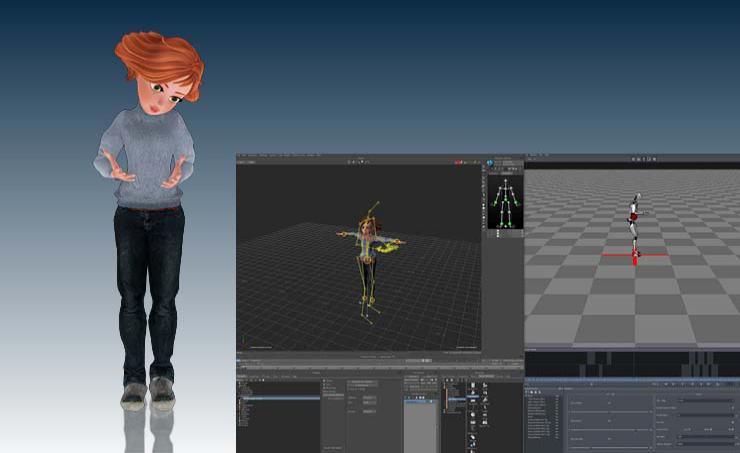 簡単Perception Neuronからのキャラクターアニメーション 01